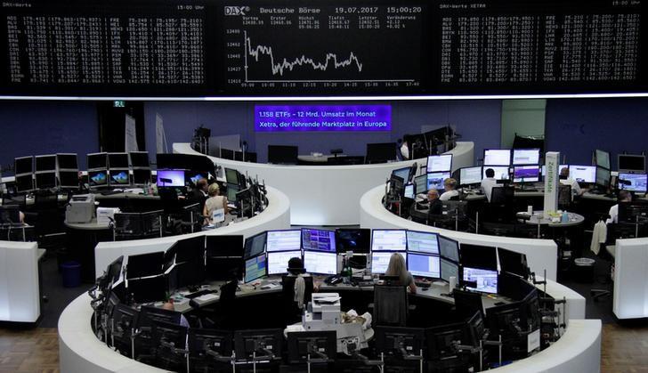 الأسهم الأوروبية ترتفع والأنظار على اجتماع البنك المركزي
