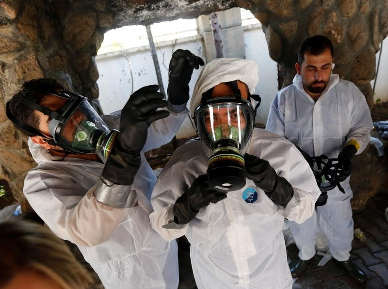 بعد هجوم بالسارين .. أطباء سوريون يتدربون لعلاج ضحايا الأسلحة الكيماوية