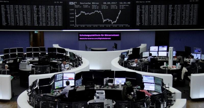 أسهم أوروبا تنخفض صباحا بفعل التوتر بين أمريكا وكوريا الشمالية