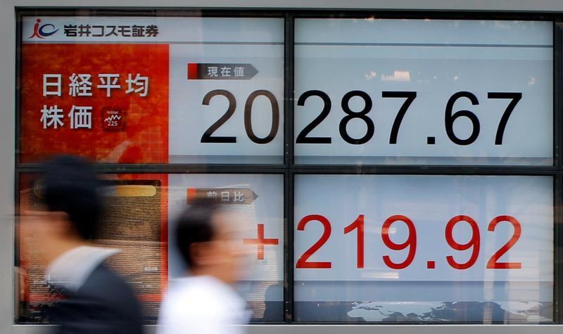 نيكي يهبط 0.38% في بداية التعامل بطوكيو