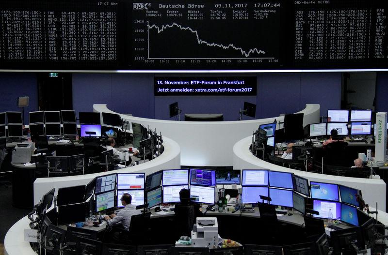 الأسهم الأوروبية تسجل أكبر خسارة ليوم واحد في حوالي خمسة أشهر
